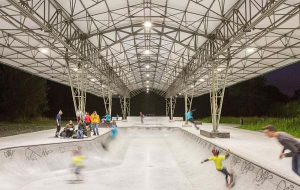 Skate pista estalia eta ingurunea Zuatzun Galdakao
